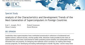 photo:Analysis of the Characteristics and Development Trends of the Next-Generation of Supercomputers in Foreign Countries (report by IDC)