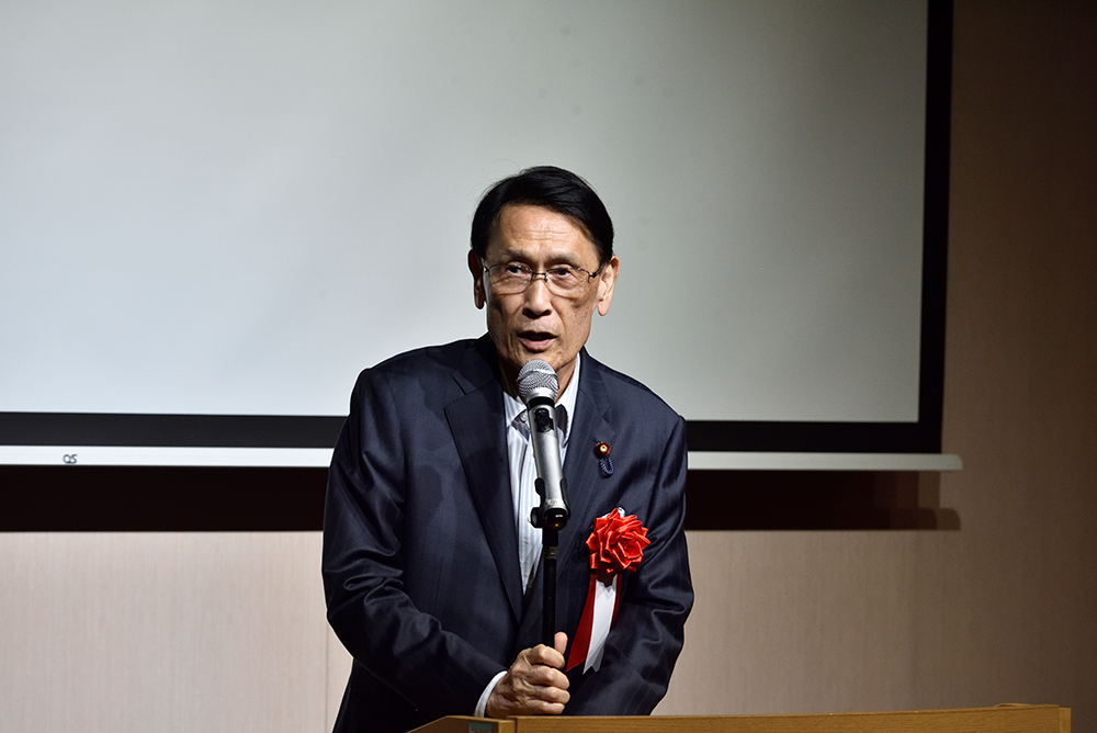 写真:衆議院議員 渡海紀三朗様 ご挨拶
