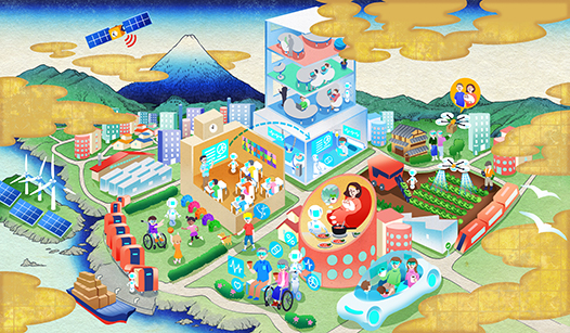 図:Society 5.0 社会のイメージ